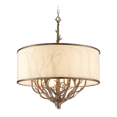 Troy Lighting Troy Lighting Whitman Vienna Bronze Pendant Light with Drum Shade F4108