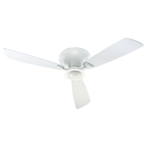 Quorum Lighting Quorum Lighting Nikko Studio White Ceiling Fan with Light 70523-8