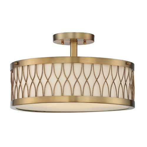 Savoy House Savoy House Lighting Spinnaker Warm Brass Semi-Flushmount Light 6-112-3-322
