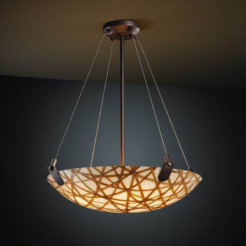 Justice Design Group Justice Design Group U-Clips Family Dark Bronze Pendant Light 3FRM-9622-35-CONN-DBRZ