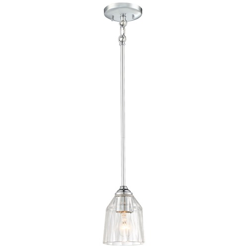 Minka Lavery Minka D'or Chrome Mini-Pendant Light with Bell Shade 3380-77