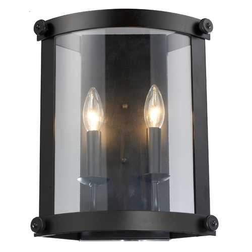 Elk Lighting Modern Sconce Wall Light with Clear Glass in Oiled Bronze Finish 66280-2