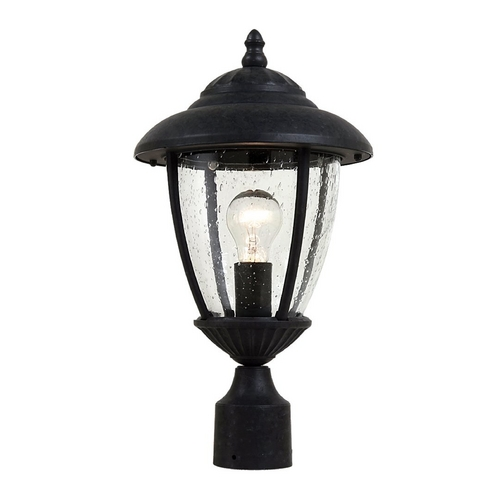 Sea Gull Lighting Post Light with Clear Glass in Oxford Bronze Finish 82068-746