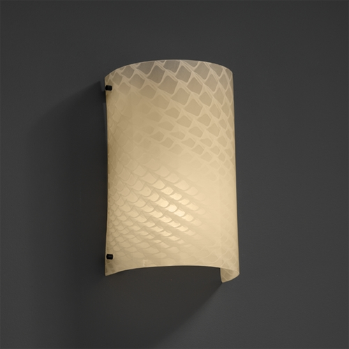 Justice Design Group Justice Design Group Fusion Collection Sconce FSN-5542-WEVE-MBLK