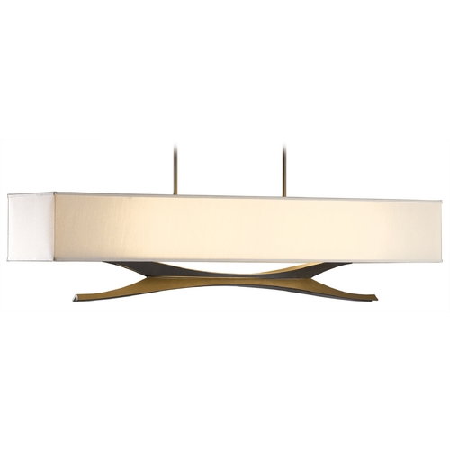 Hubbardton Forge Lighting Hubbardton Forge Lighting Moreau Dark Smoke Island Light with Rectangle Shade 137655-07-764