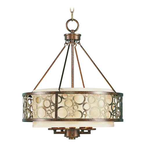 Livex Lighting Livex Lighting Avalon Palacial Bronze with Gilded Accents Pendant Light with Drum Shade 8675-64