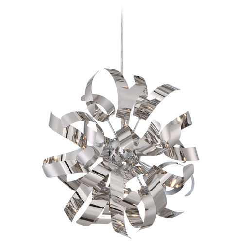 Quoizel Lighting Quoizel Ribbons Polished Chrome Mini-Pendant Light RBN1512C
