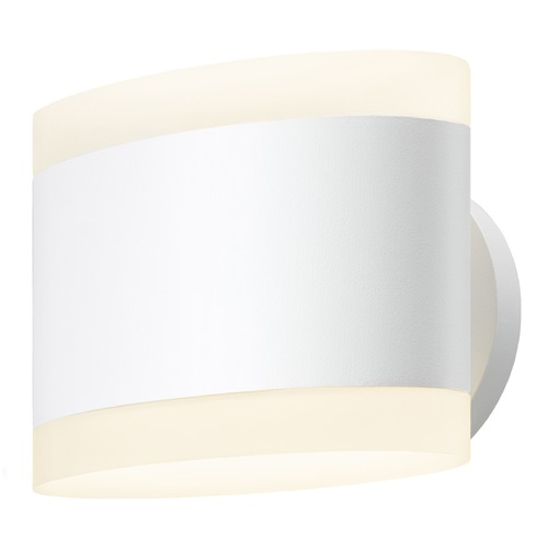Sonneman Lighting Sonneman Ellipses Textured White LED Sconce 2718.98