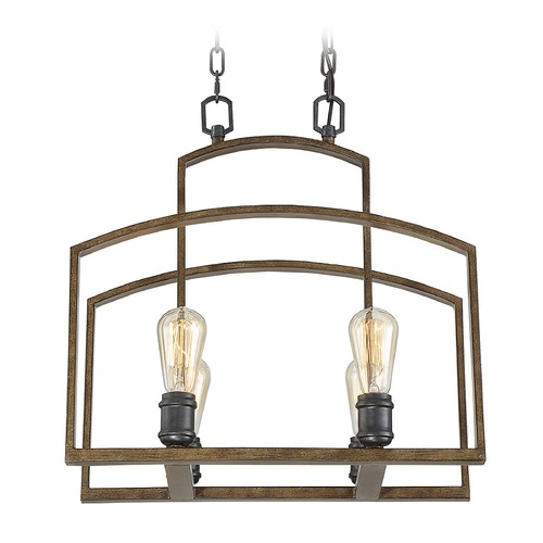 Savoy House Savoy House Lighting Gage Woodland Bronze Pendant Light 1-6058-4-87