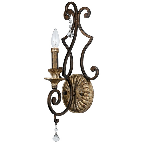 Quoizel Lighting Sconce Wall Light in Heirloom Finish MQ8701HL