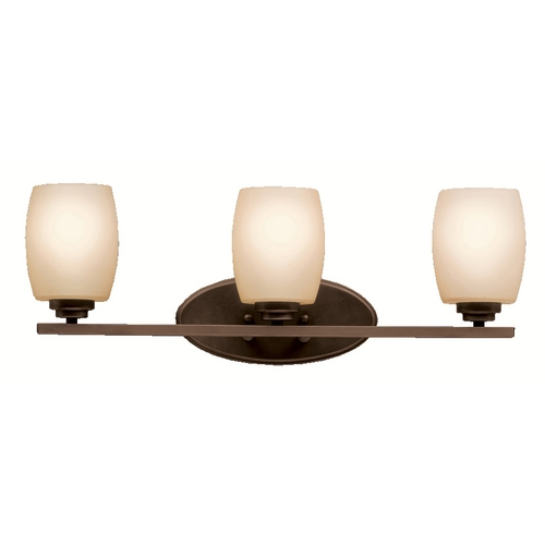 Kichler Lighting Kichler Bathroom Light with Beige / Cream Glass in Olde Bronze Finish 5098OZ