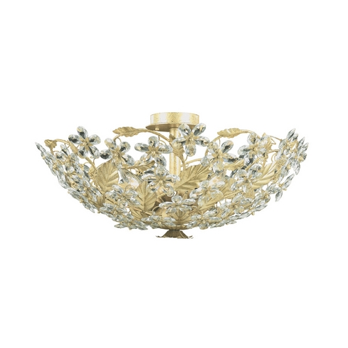 Crystorama Lighting Crystal Semi-Flushmount Light in Champagne Finish 4724-CM