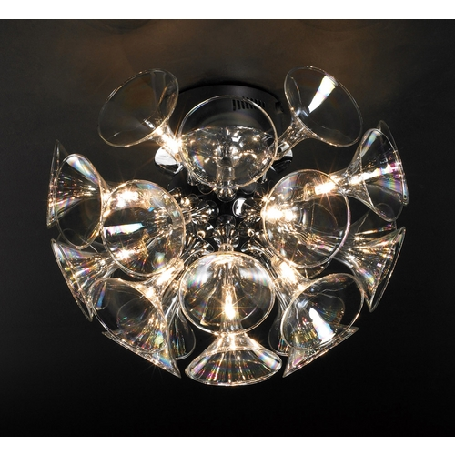 PLC Lighting Modern Semi-Flushmount Light in Polished Chrome Finish 81661 PC