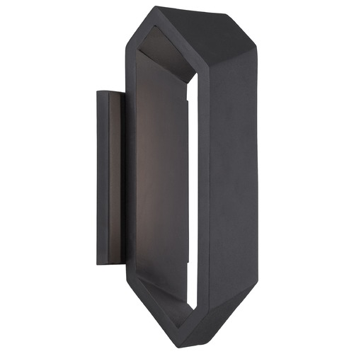 George Kovacs Lighting Minka Pitch Black LED Outdoor Wall Light P1204-066-L