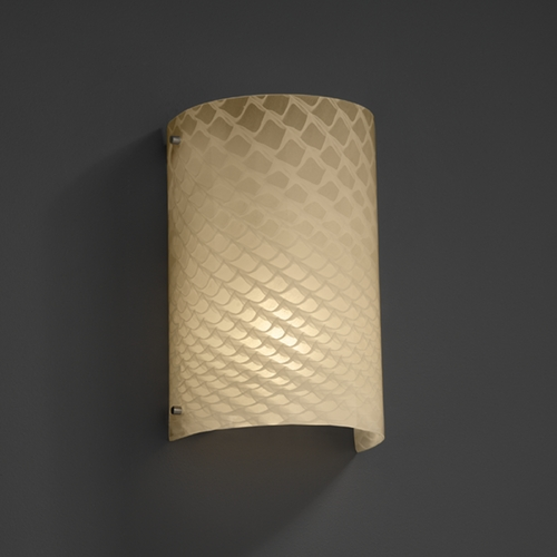 Justice Design Group Justice Design Group Fusion Collection Sconce FSN-5542-WEVE-NCKL