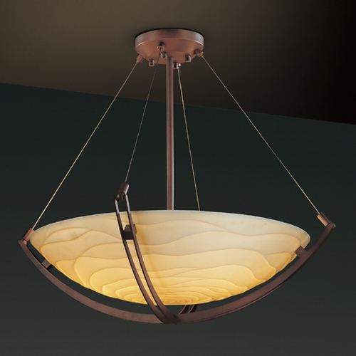 Justice Design Group Justice Design Group Porcelina Collection Pendant Light PNA-9724-35-WAVE-DBRZ