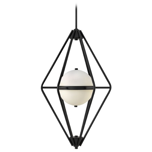 Frederick Ramond Frederick Ramond Spectra Black Pendant Light with Globe Shade FR37554BLK