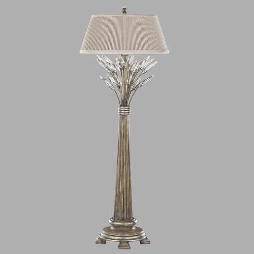 Fine Art Lamps Fine Art Lamps Crystal Laurel Antiqued Warm Silver Leaf Console & Buffet Lamp with Empire Shade 752815ST
