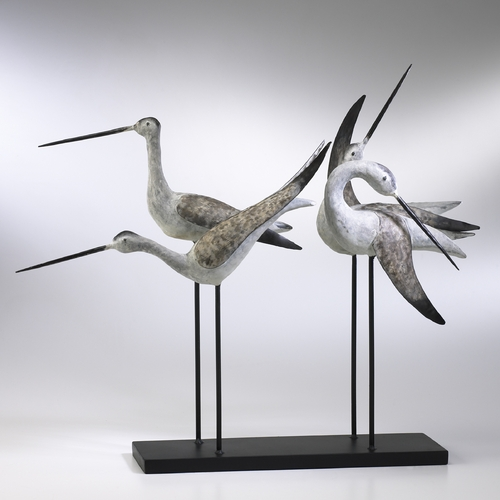 Cyan Design Cyan Design Sandpiper Weathered White & Gray Sculpture 01517