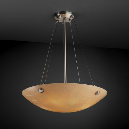 Justice Design Group Justice Design Group Finials Family Brushed Nickel Pendant Light 3FRM-9662-35-TAKE-NCKL-F6