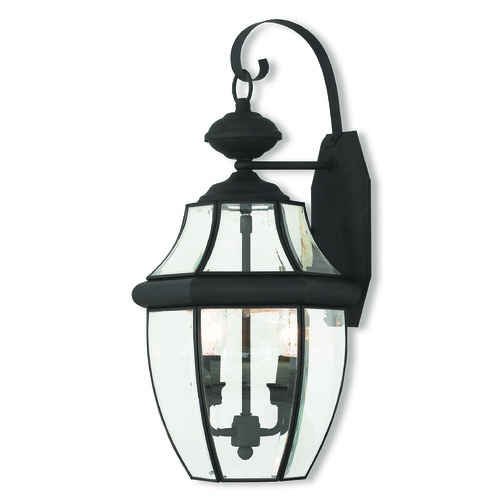 Livex Lighting Livex Lighting Monterey Black Outdoor Wall Light 20284-04