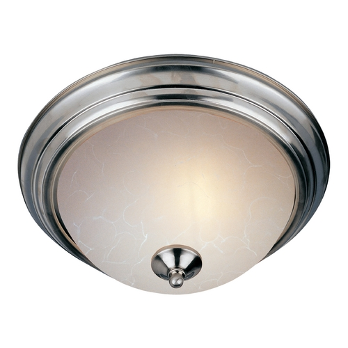 Maxim Lighting Maxim Lighting Essentials Satin Nickel Flushmount Light 5840ICSN