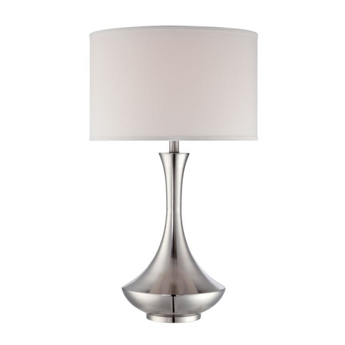 Lite Source Lighting Three-Way Table Lamp with Drum Lamp Shade LS-22079