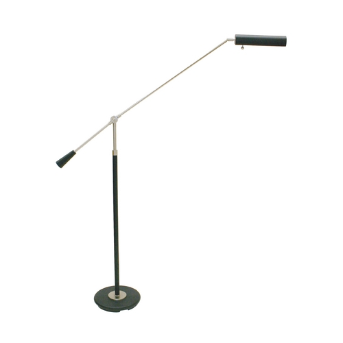 House of Troy Lighting Modern Swing Arm Lamp in Satin Nickel & Black Finish PFL-527