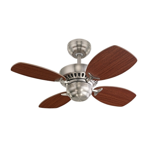 Monte Carlo Fans Ceiling Fan Without Light in Brushed Steel Finish 4CO28BS