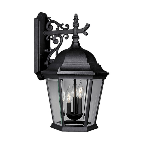 Progress Lighting Progress Outdoor Wall Light with Clear Glass in Textured Black Finish P5690-31