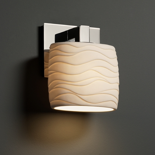Justice Design Group Justice Design Group Limoges Collection Sconce POR-8931-30-WAVE-CROM