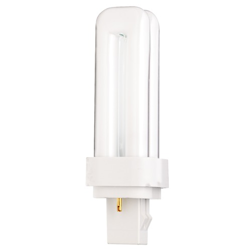 Satco Lighting Compact Fluorescent Quad Tube Light Bulb 2 Pin Base 4100K by Satco Lighting S6720
