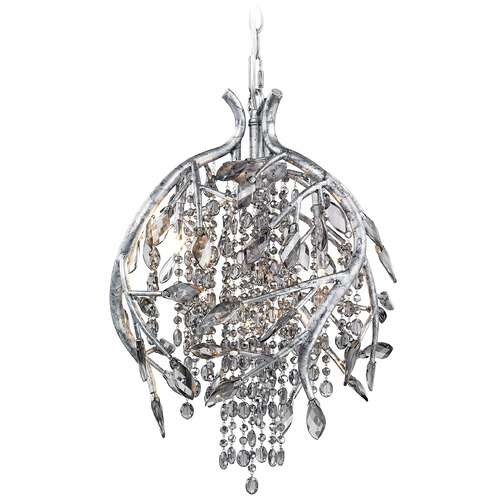 Golden Lighting Golden Lighting Autumn Twilight Mystic Silver Pendant Light 9903-3P MSI