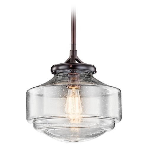 Kichler Lighting Kichler Lighting Keller Pendant Light with Bowl / Dome Shade 43563SBR