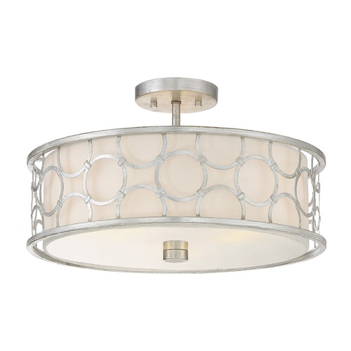 Savoy House Savoy House Lighting Triona Silver Leaf Semi-Flushmount Light 6-1162-3-34