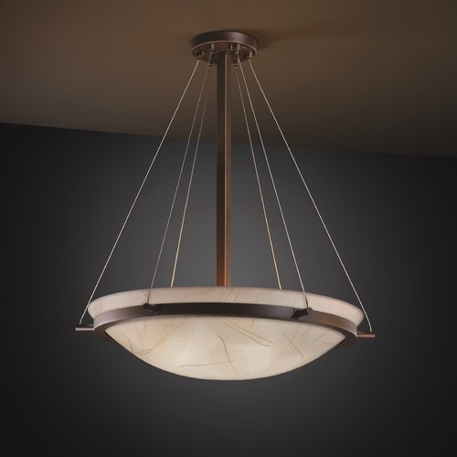 Justice Design Group Justice Design Group Ring Family Dark Bronze Pendant Light 3FRM-9692-35-LEAF-DBRZ