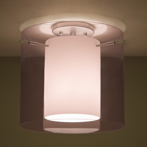 Besa Lighting Besa Lighting Pahu Satin Nickel LED Semi-Flushmount Light 1KM-A18407-LED-SN