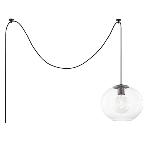 Mitzi by Hudson Valley Mitzi By Hudson Valley Margot Old Bronze Swag Light with Globe Shade HL270701L-OB