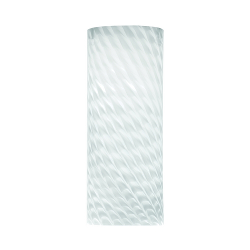 Philips Lighting Marta White Cylindrical Art Glass Shade F5344NV
