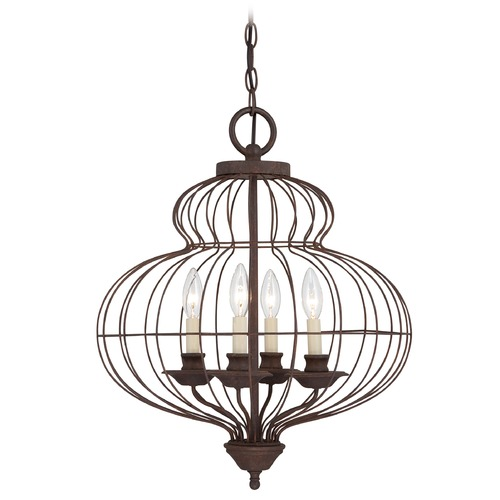 Quoizel Lighting Pendant Light in Rustic Antique Bronze Finish LLA5204RA
