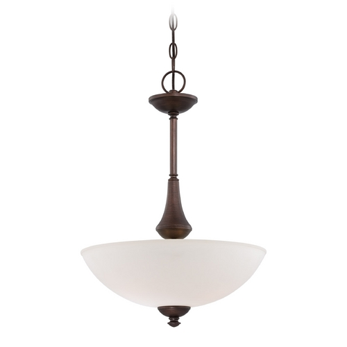 Nuvo Lighting Pendant Light with White Glass in Prairie Bronze Finish 60/5138