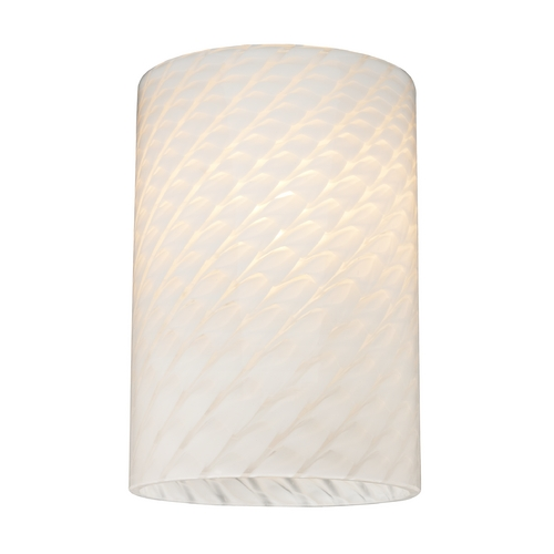 Design Classics Lighting Cylinder White Art Glass Shade - Lipless with 1-5/8-Inch Fitter GL1020C
