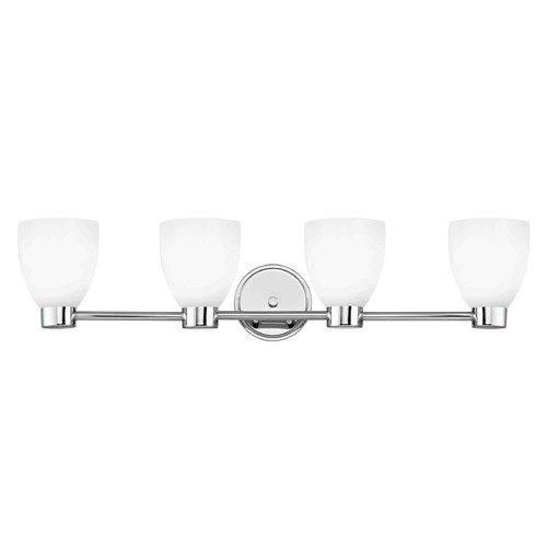 Design Classics Lighting Aon Fuse Chrome Bathroom Light 1804-26 GL1028MB