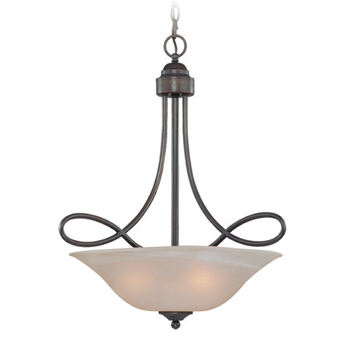 Craftmade Lighting Craftmade Cordova Old Bronze Pendant Light with Bowl / Dome Shade 25023-OB