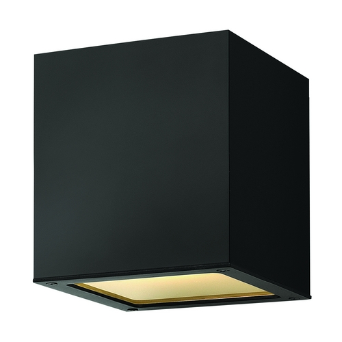 Hinkley Lighting Modern LED Close To Ceiling Light with Etched in Satin Black Finish 1763SK-LED