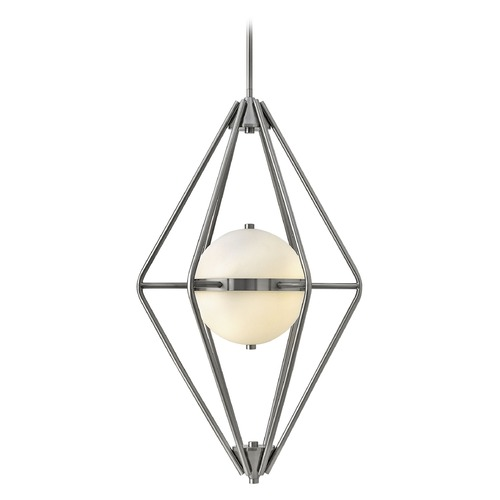 Frederick Ramond Frederick Ramond Spectra Pewter Pendant Light with Globe Shade FR37554PTR