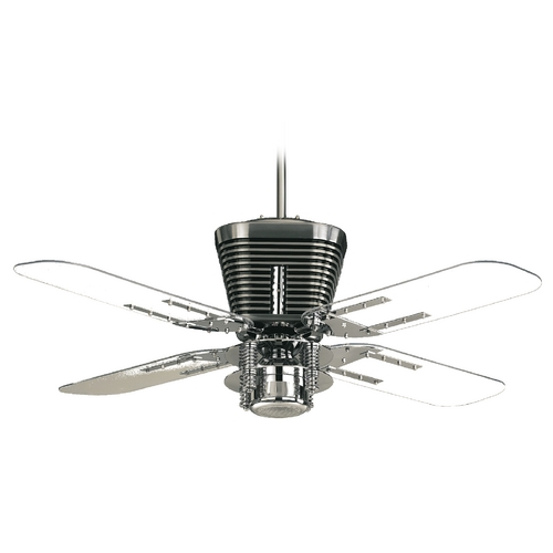 Quorum Lighting Quorum Lighting Retro Chrome Ceiling Fan with Light 93524-14