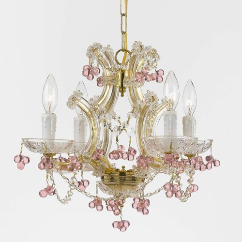 Crystorama Lighting Crystorama Lighting Hot Deal Gold Crystal Chandelier 4474-GD-ROSA