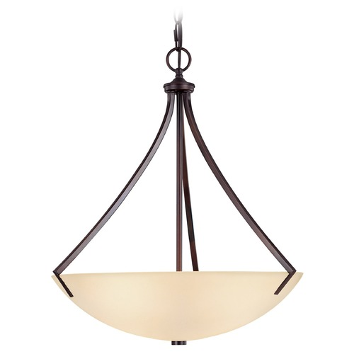 Capital Lighting Capital Lighting Stanton Burnished Bronze Pendant Light with Bowl / Dome Shade 4038BB