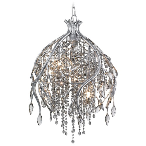 Golden Lighting Golden Lighting Autumn Twilight Mystic Silver Pendant Light 9903-5P MSI